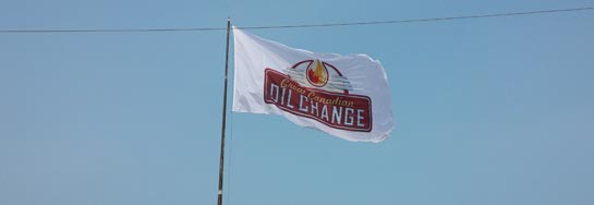Great Canadian oil change flag