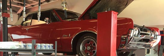 Red Camero in GCOC shop