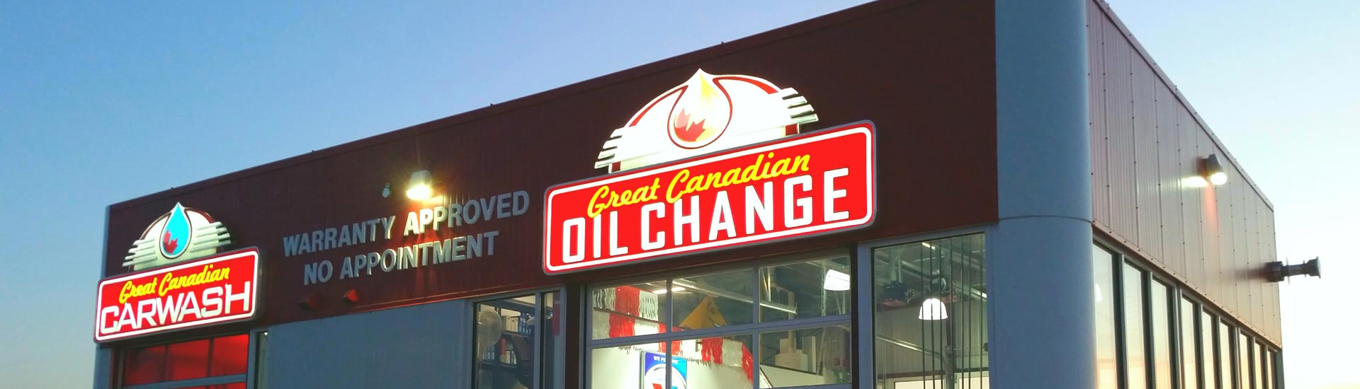 Great Canadian Oil Change franchise banner