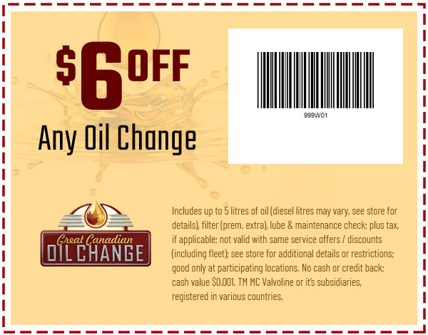 Homepage great canadian oil change coupon